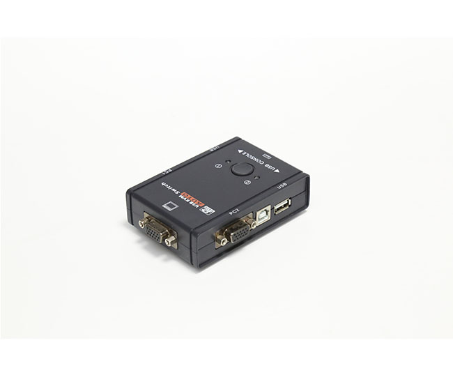 2 Port KVM SWITCH(Auto, Plastic case)
