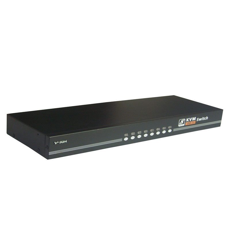 8 Port Manually  KVM Switch Rack-mount