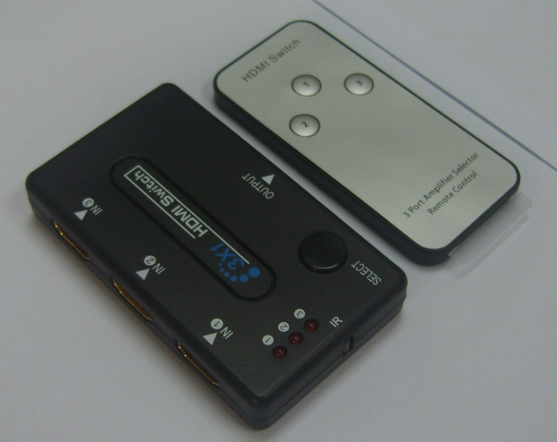 3x1 HDMI Switch with Remote -------Plastic